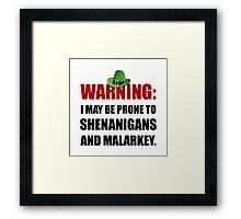 Shenanigans And Malarkey Framed Print