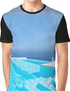 Santorini, Greece Graphic T-Shirt