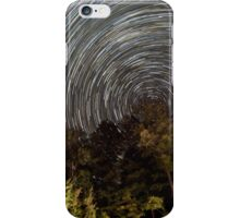 County Border Star Trails - Northern Wisconsin iPhone Case/Skin