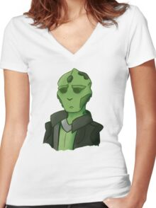 thane krios Women's Fitted V-Neck T-Shirt