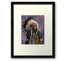 Colorized American Indian Chief  Framed Print