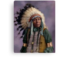 Colorized American Indian Chief  Canvas Print