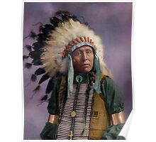 Colorized American Indian Chief  Poster