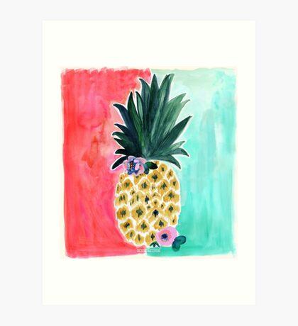 Pineapple Leia Tropical Art Print   by Crystal Walen Art Print