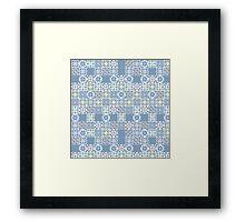 Floor Tile mashup Framed Print