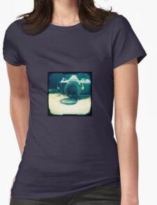 Old friend - vintage Pentax camera Womens Fitted T-Shirt