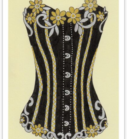 Flower Corset Sticker