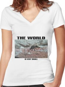 the world Women's Fitted V-Neck T-Shirt