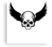 Skull Blackwings Canvas Print