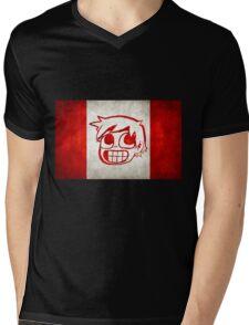 Scott Pilgrim Canada flag edition Mens V-Neck T-Shirt