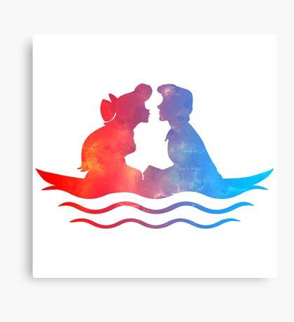 Boat Ride Kiss Canvas Print