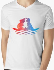Boat Ride Kiss Mens V-Neck T-Shirt