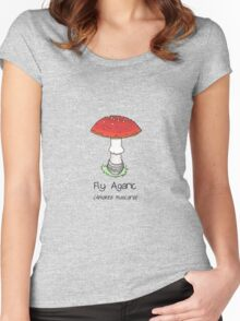 Fly Agaric (without smiley face) Women's Fitted Scoop T-Shirt