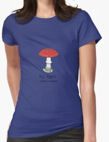 Fly Agaric (without smiley face) Womens Fitted T-Shirt