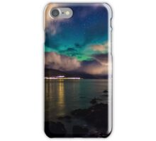 Northern Lights over Cloch Lighthouse iPhone Case/Skin