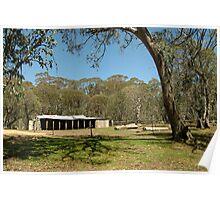 Joe Mortelliti Gallery - Lovick's Hut, on Barclay's Flat near Mt Lovick, alpine Victoria, Australia.  Poster