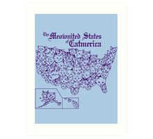 The Meownited States of Catmerica Art Print