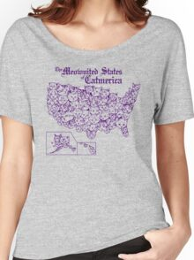 The Meownited States of Catmerica Women's Relaxed Fit T-Shirt