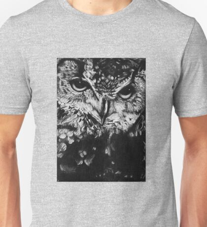 Owl drawing photorealistic Unisex T-Shirt