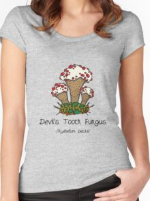 Devil's Tooth Fungus (without smiley face) Women's Fitted Scoop T-Shirt