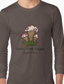 Devil's Tooth Fungus (without smiley face) Long Sleeve T-Shirt