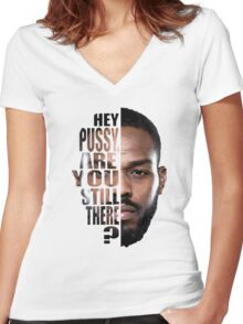 Jon jones quote Women's Fitted V-Neck T-Shirt