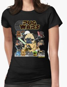 PUG WARS Womens Fitted T-Shirt