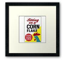 Sitting On A Corn Flake Framed Print