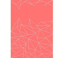 Geometric -Red/Pink- Photographic Print