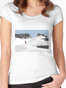snowy mountains 2 Women's Fitted Scoop T-Shirt