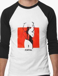 Portal Gun Men's Baseball ¾ T-Shirt