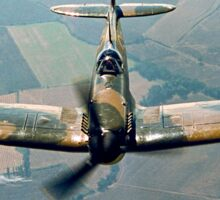 BBMF Spitfire IIa P7350 over South Lincolnshire Sticker