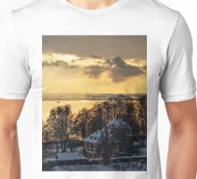 Lake Constance Winter Landscape near Hagnau Unisex T-Shirt