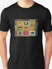 "Lilly Geometric Textile Art Series ""Loose Ends, One"" Unisex T-Shirt"