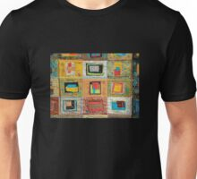 """Lilly Geometric Textile Art Series """"Loose Ends, One"""" Unisex T-Shirt"""