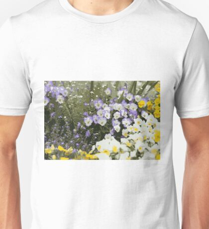 pansy meadow 1 Unisex T-Shirt