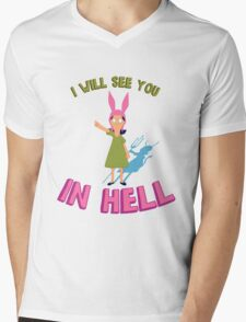 Louise Belcher Will See You in Hell Mens V-Neck T-Shirt