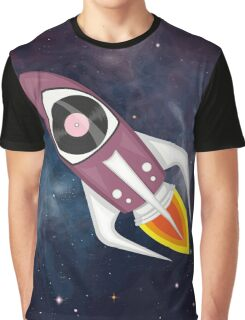 Violet Musical rocket in outer space Graphic T-Shirt