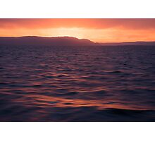Macquarie Harbour Sunset Photographic Print
