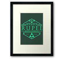 Hyrule Rupee Mining Company Framed Print