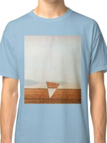 Minimalist collage desert landscape with inverted triangle Classic T-Shirt