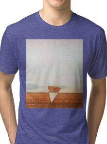 Minimalist collage desert landscape with inverted triangle Tri-blend T-Shirt