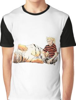 Real Calvin and Hobbes Graphic T-Shirt