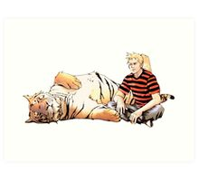 Real Calvin and Hobbes Art Print