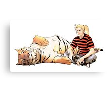 Real Calvin and Hobbes Canvas Print