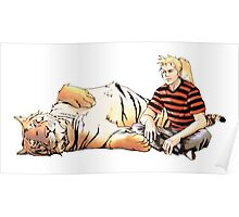 Real Calvin and Hobbes Poster
