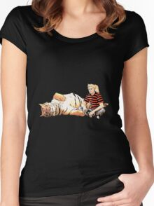 Real Calvin and Hobbes Women's Fitted Scoop T-Shirt