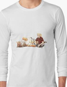 Real Calvin and Hobbes Long Sleeve T-Shirt