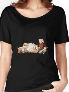 Real Calvin and Hobbes Women's Relaxed Fit T-Shirt