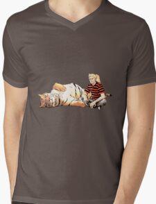 Real Calvin and Hobbes Mens V-Neck T-Shirt